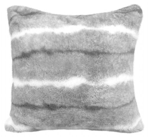 Luxury Faux Fur Sofa Scatter Cushion Super Soft Arctic Cosy Cuddly Feel, 56cm x 56cm, Oxen Grey